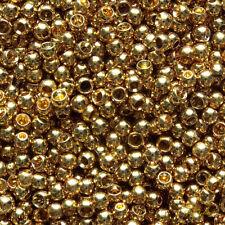 100 2.8mm gold, brass beads.