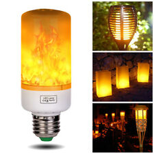 E27 5W 3 modes LED Flame Burning Light Flicker Lampe Bulb Fire Effect Simulated
