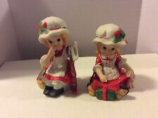 "Set Of 2 Treasure Masters "" Merry Christmas From Polly Poinsettia """
