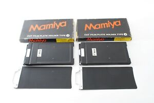 """N MINT"" Mamiya CUT FILM PLATE HOLDER TYPE J x2 for Press from Japan720959"