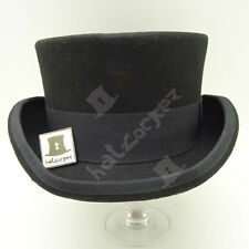 CLASSIC Wool Felt Tuxedo Topper Top Hat Men Women Short Victorian | 55cm | Black