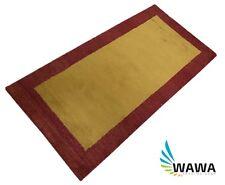Gabbeh Teppich 70x140 cm Handgeknüpft ~ 100% Wolle ~ Gold Rot~ Reine Schurwo