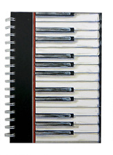 A5 Piano Keys Notebook - Music themed Gift - Notebook for Piano/Music Student