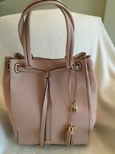G.I.L.I. Smooth Leather Large Tote Bag, Blush, New