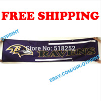 Baltimore Ravens Banner Flag 2x8 ft 2020 NFL Fan Club Wall Home Decor NEW