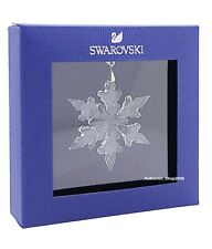 New Swarovski Brand White Crystals Holiday Snowflake Ornament Display 5511042