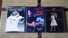 (3) Patrick Swayze DVD Movies - Ghost, Road House & Dirty Dancing  (CLASSICS)