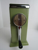 Vintage Ice-O-Matic Ice Grinder Crusher MCM Pistachio Green & Chrome Wall Mount