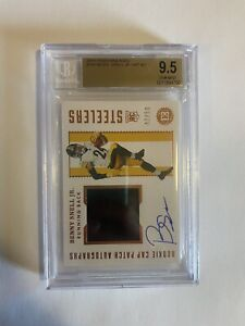 Benny Snell Jr. BGS 9.5/10 Rookie Cap Patch Autographs Pittsburgh Sterlers