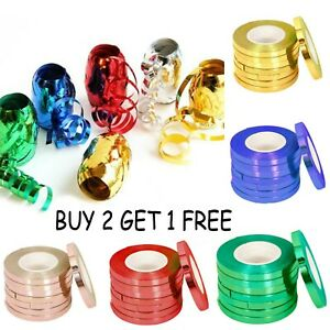 50 Metres Balloon Curling Ribbon BUY2 GET1 FREE 50m Xmas New Year Party Wrapping