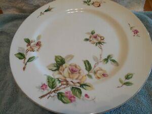 "4 - Vintage Lynmore Golden Rose Dinner Plates Fine China Japan 10 1/2"" Dia"