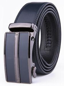 Men's Leather Slide Ratchet Dress Belts for Men, One Size Fit All