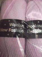 Pinky/Lilac New Fashion Chunky Wool   5 x 100gm balls  [ 500g  ]