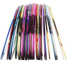 20 Colors Nail Sticker Rolls Striping Tape Line Nail Art UV GEL Tips DIY Kit
