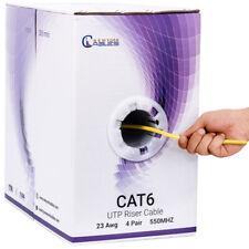1000ft Cat6 Bulk Network Cable 23Awg Utp 550Mhz Shielded Riser Yellow