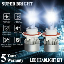 2pcs H13 9008 LED 1800W 270000LM Headlight Conversion Kit Hi/Lo Beam 6000K White