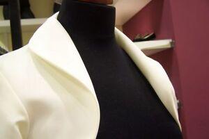 Braut Bolero Weiß Creme Schwarz Jacke Kragen hoch runter NEU