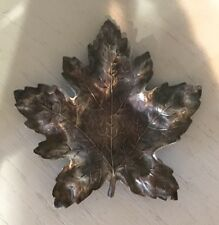Sterling Silver Antique IVY MAPLE OAK LEAF dish / tray / ring holder HALLMARKED
