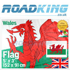 Wales Flag | Large Welsh Dragon National Football Rugby Flag 5' x 3'  152 x 91cm