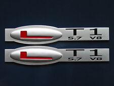 LT1 5.7 Litre V8 Small Block Engine Fender Badge Pair (3 colors)