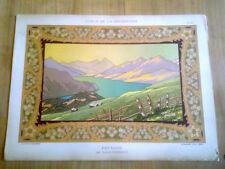estampes art nouveau - paysage par louis Clermont  - montagne