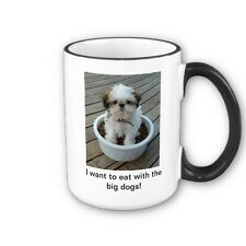 Shih Tzu Puppy Dog Photo Coffee Mug 15 oz NEW