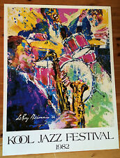 """LeRoy Neiman Lithograph """"Kool Jazz Festival"""" made in 1982"""
