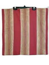 "Pottery Barn Red Beige Striped Cotton Linen Farmhouse 20"" Pillow Cover"
