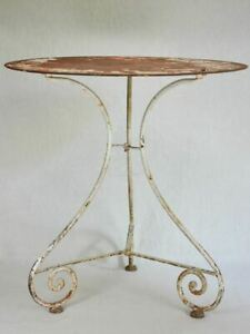 """19th-century French voyage folding garden table 27½"""""""