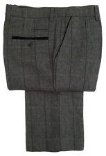 Pantaloni da uomo alto grigio a gamba dritta