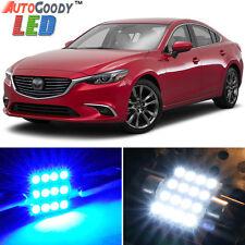 13 x Premium Blue LED Lights Interior Package Kit for 2009-2017 Mazda 6 + Tool