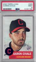 AARON CIVALE 2020 Topps Living #340 PSA 9 Rookie RC