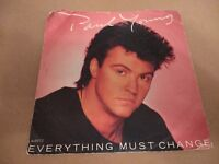 """PAUL YOUNG """" EVERYTHING MUST CHANGE """" 7"""" SINGLE P/S EXCELLENT 1984"""