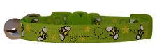 rosa fucsia o verde lima y amarillo Abeja Seguridad Gato Gatito hasta 30.5cm
