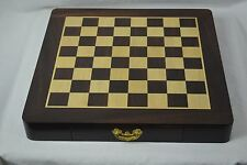 Beautiful Hand Crafted Wooden Felt Lined Chessboard & Chess Pieces