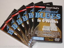 6 DVD SET LICK LIBRARY STUART BULLS ADVANCED BLUES Guitar In Weeks 1 2 3 4 5 DVD