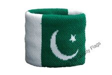 WRISTBAND Pakistan Flag SWEATBAND 7x8cm