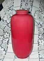 """Vintage Pottery Ceramic Pink - Red 7.5"""" Vase Japan"""