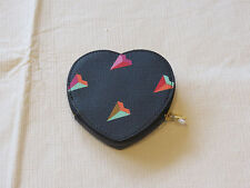 Fossil SL6899745 Vday Heart Coin Hearts black leather coin id purse NWT*^