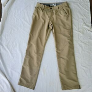 Under Armour Match Play Golf Loose Fit Pants Mens Size 34 Inseam 32 Khaki