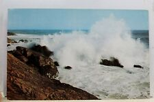 Maine ME Vacationland Rolling Surf Postcard Old Vintage Card View Standard Post
