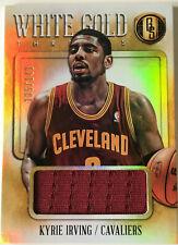 NBA Basketball - KYRIE IRVING -  Panini White Gold Jersey Trikot Card No.105/149