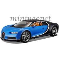 BBURAGO 18-11040 2016 BUGATTI CHIRON 1/18 DIECAST MODEL CAR BLUE