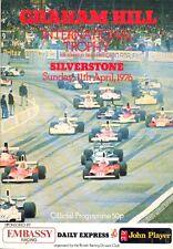 Graham Hill International Trophy Silverstone 11/4/76 programme + lap chart