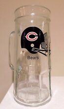 VINTAGE GLASS FISHER PEANUT JAR BEER MUG  CHICAGO BEARS NFL