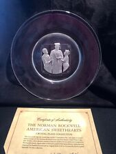 Norman Rockwell Crystal plate Graduation Day American sweetheart Collection