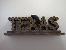 Western Shotgun Shell Texas Sign Plaque Free Standing Rustic Home Decor Hunting