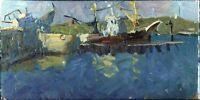 """Russischer Impressionist Öl Leinwand """"Sonniger Tag"""" 60x30 cm"""