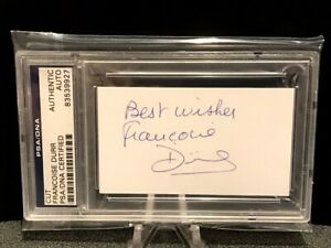 PSA/DNA FRANCOISE DURR SIGNED AUTOGRAPH - HOF TENNIS LEGEND - MINT