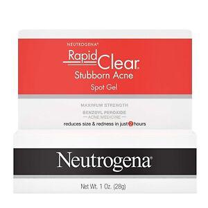 Neutrogena Rapid Clear Stubborn Acne Spot Gel Skin Care 10% Benzoyl Peroxide 28g